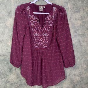 One September | Anthro Purple Blouse
